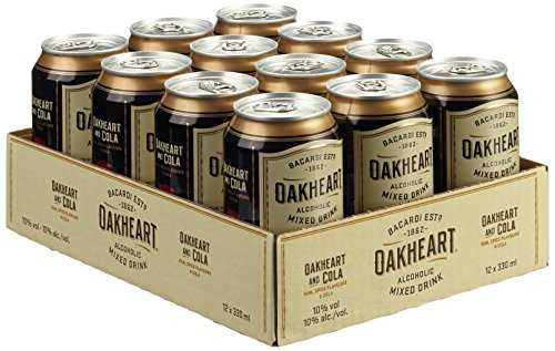 Bacardi Oakheart und Cola (12 x 0.33 l)