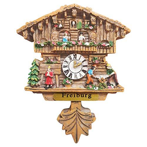 Ciffre Kuckucksuhr Magnet Polyresin Kühlschrank Handmade Braun - Freiburg