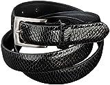 ESMARA® Damen Gürtel (schwarzes Schlangenmuster, Bundweite: ca. 90 cm, Breite: ca. 24 mm)