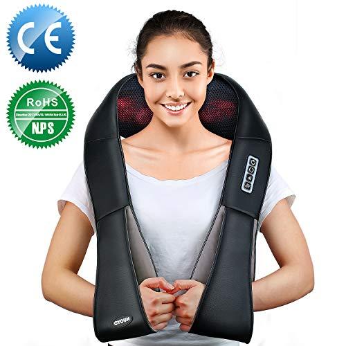 Nackenmassagegerät, Elektrische Massagegerät mit Wärmefunktion für Schulter Nacken Rücken,...