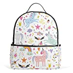 Unicorns Pattern Kid Backpack Childrens School Bag Boy Girl Perfect for School or Travel