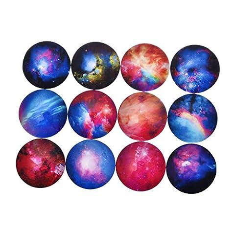 5PCS Schöne Universum Galaxie Muster Kalender Magnete Zufällige