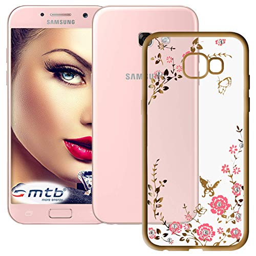 mtb more energy® Schutz-Hülle Bloomy für Samsung Galaxy A5 2017 (SM-A520, 5.2'')   Gold   TPU Case Cover Tasche A517 Case Cover