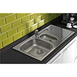 Astracast HZ0965HV 1.5 Bowl Stainless Steel Kitchen Sink-Reversible Drainer