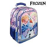 Cerdá Frozen Zaino scuola, 38 cm, Blu-Rosa