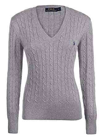 ralph lauren ladies womens luxury v neck jumper sweater. Black Bedroom Furniture Sets. Home Design Ideas