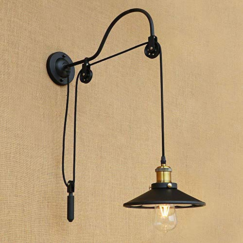 LICIDI Retro Industrial Style Wrought Iron Long Arm Pole Wall Wall Lamp Swing Arm Wall Wall Mount Light Sconces - Swing Arm Wall Mount