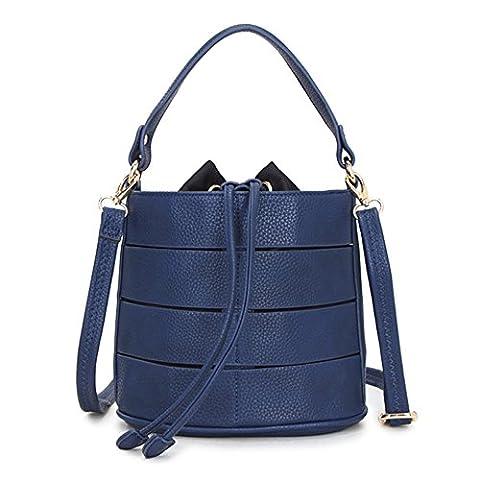 Damen Schultertasche Bucket Bag PU Leder Umhängetaschen große Shopper