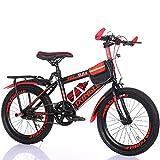 Bicicletas para niños Guo Shop 6-7-9-10-15 Años Carro de bebé 18/20/22 Pulgadas Niños y Niñas Alumnos Velocidad Individual Bicicleta de Montaña (Color : Rojo, Tamaño : 18')