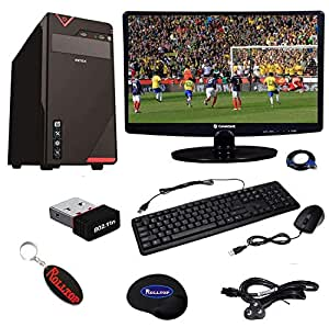 Rolltop Assembled Desktop Computer,Intel Core 2 Duo 2.9 GHZ Processor ,G 31 Frontech/Zebronics Motherboard,Consistent 15.6 Inch LED Monitor