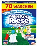 Weißer Riese Universal Pulver, Vollwaschmittel, 1er Pack (1 x 70 Waschladungen)