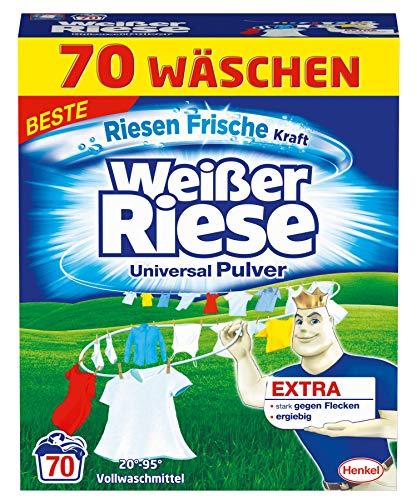 Weißer Riese Universal Pulver, Vollwaschmittel, 1er Pack (1 x 70 Waschladungen) - Frische Wäsche Waschmittel
