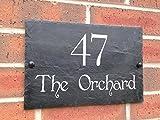 Slate House Sign Door Number 30x20cm