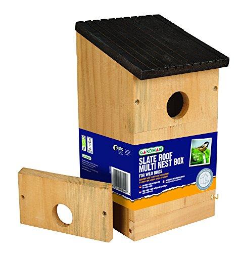 Gardman A04381 Mehrzweck-Vogelhäuschen, Nistkasten