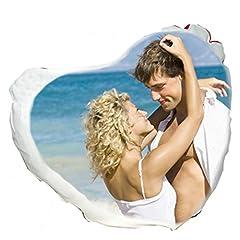 Idea Regalo - Cuscino a cuore personalizzato con foto 40x40 cm