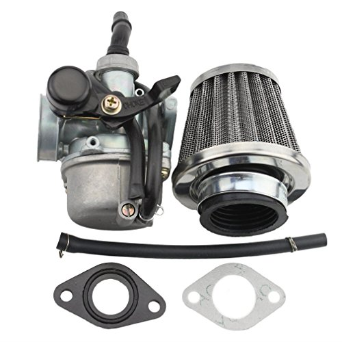 GOOFIT Vergaser 110cc Atv Dirtbike Go Kart Carburetor mit Air Filter - Go-kart Air Filter