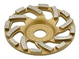 TRONGAARD PREMIUM Diamant Schleifteller / Schleiftopf 125mm / 22,23mm / 20mm L-Segmentierung