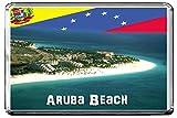 C220 ARUBA BEACH KÜHLSCHRANKMAGNET VENEZUELA TRAVEL REFRIGERATOR MAGNET