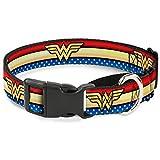 Buckle Down Hundehalsband Wonder Woman Logo Stripe/Stars Martingale, 1.5