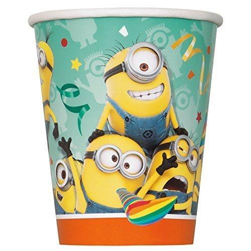 Minions – 8 Pappbecher / Partybecher 270 ml – Ich einfach unverbesserlich - Geburtstag & (Minion Party Supplies)