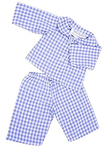 FRILLY LILY BLUE GINGHAM PYJAMA SET FOR 12-14 INCH [30-35CM]