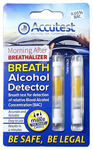 Accutest - 2 Pruebas de alcoholemia desechables - Kit de prueba de alcohol, certificado...