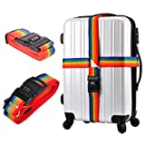 LUKZER Cross Luggage Trendy And Stylish Travel Suitcase ,Baggage ,Luggage ,Backpack Adjustable Bag Strap / Luggage Belt With Combination Lock (Random Colors)