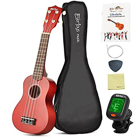 Soprano Ukulele Beginner Kit - 21 Inch w/ Carrying bag Digital Clip on Tuner How to Play Songbook All in One Set 10000+Instagram Likes