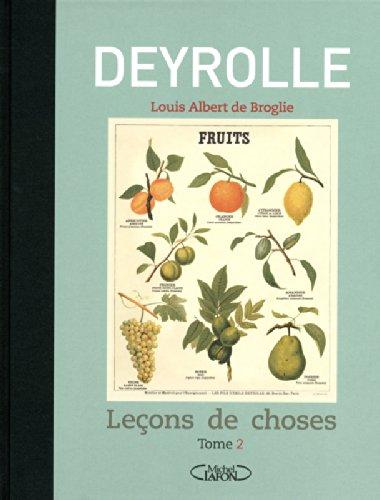 Leçons de choses - tome 2 par Deyrolle