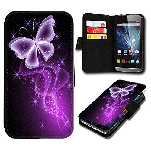 Book Style Wiko Sunset 2 Premium PU-Leder Tasche Flip Brieftasche Handy Hülle mit Kartenfächer für Wiko Sunset 2 - Design Flip SB296