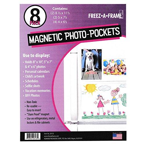nsparent Magnetischer Bilderrahmen 8Pack (2) 8,5x 11(2) 5x 7(4) 4x 6Foto Taschen ()