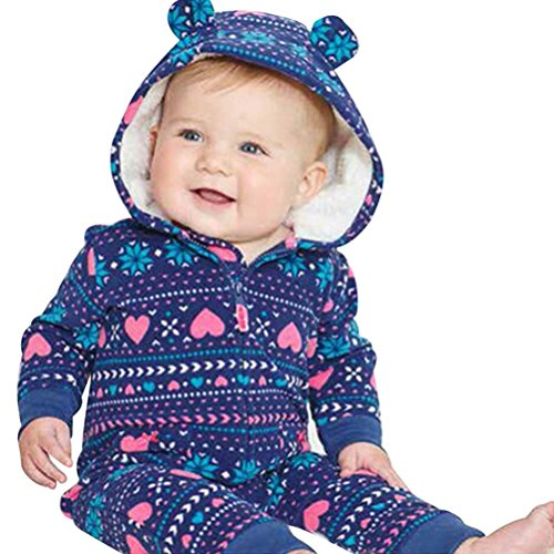 Huihong Baby Jungen Mädchen Strampler Herbst Langarm Camouflage Dicker-Druck Jumpsuit Kapuzenpullover Overall Baby Unisex Kleidung(0-24Monate) (65CM 6 Monate, (Spieler Frauen Kostüm)