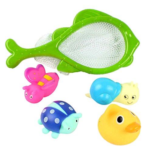 Generic Multicolors Cute Water Spraying Squeeky Baby Kids Fun Bath Game Toy-Random