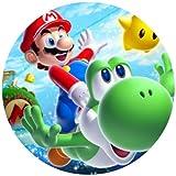Tortenaufleger Tortenfoto Aufleger Foto Bild Super Mario Bros rund ca. 20 cm (5) *NEU*OVP*