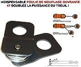 LCM2014 DOUBLEZ LA Puissance du TREUIL ! POULIE DE MOUFLAGE OUVRANTE 4T ! Indispensable Raid Preparation 4X4 Faucet