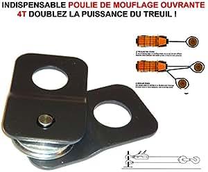 DOUBLEZ LA PUISSANCE DU TREUIL ! POULIE DE MOUFLAGE OUVRANTE 4T ! INDISPENSABLE RAID PREPARATION 4X4 FAUCET