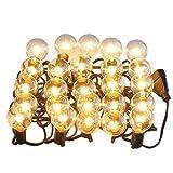 LED Lichterkette glühbirnen G40 25FT Deko lichterkette wasserdichte IP 65 für Innen Außen,Garten, Weihnachtsbeleuchtung, Wolframlampe, Yunshangauto Schnur Licht