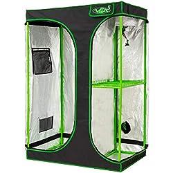 Chambre de Culture 2 en 1 | Box culture indoor pour Homegrowing | Toile résistante à la lumière et aux déchirures | Imperméable Grow Tent | 90x60x135 cm VITA5