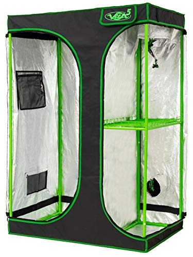 VITA5 Grow Box 2-in-1 | Serra Indoor per la Coltivazione Indoor | Tela Leggera e antistrappo | Impermeabile growbox (90x60x135)