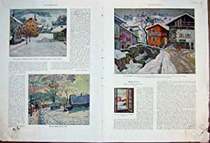 Megeve Colour Print Joly-Coin France French Print 1932