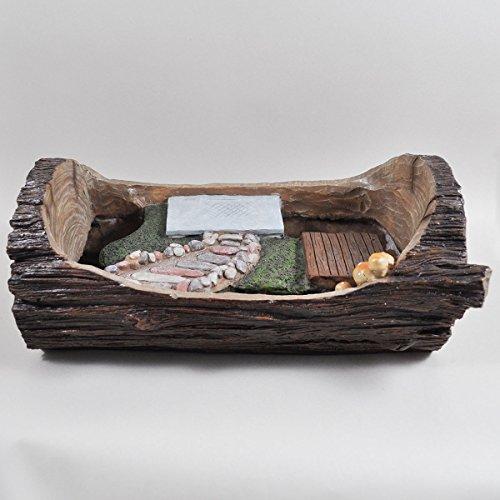 Fairy Garden UK Starter Übertopf Log Szene–Elfe Fee Pixie Hobbit Zauberhafte Geschenkidee–Länge: 36cm