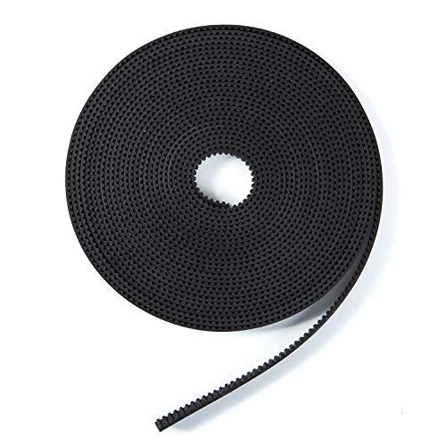 L.L.QYL 3D Druckerzubehör GT2 2mm Pitch Pen Zahnriemen Für 3D Drucker 6mm Breite Gummi Fiberglas (offener Riemen) 10M