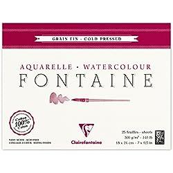 Clairefontaine Aquarellblock, 4-seitig verleimt für nasse Aquarell-Kompositionen
