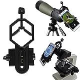 Vizzlema Universal stoßfest Handy Teleskop Adapter Halterung Arbeit mit Rifle Fernglas Spektiv Monokular Mikroskope Scope Mikroskope117g