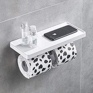 Aimadi toilet paper holder, roll holder, wall mounting, white
