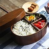Holz-Bento-Box, Sushi-Box im japanischen Stil, wiederverwendbar, für Picknick und Lunch