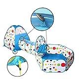 Travel Dream Faltbare Kinder Kleinkind Pop Up Spielzelt mit Tunnel und Ball Pit mit Reißverschluss Aufbewahrungsbeutel für Kinder Innen-und Outdoor-Spielhaus Kinder spielen Gaming Spielzeug