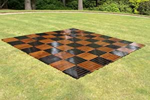 Giant Chess Board - Teak Board Measuring 2.4m x 2.4m