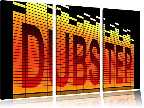 Dubstep, cool music, 3-Teiler Leinwandbild 120x80 Bild auf Leinwand, XXL riesige Bilder fertig gerahmt mit Keilrahmen, Kunstdruck auf Wandbild mit Rahmen, gänstiger als Gemälde oder Ölbild, kein Poster oder Plakat (Elektronische Plakate)
