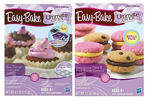 easy-bake-2-pack-oven-refill-chocolate-chip-and-pink-sugar-cookies-32-oz-and-red-velvet-cupcakes-41-